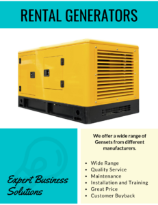 rental generators, generators on rent